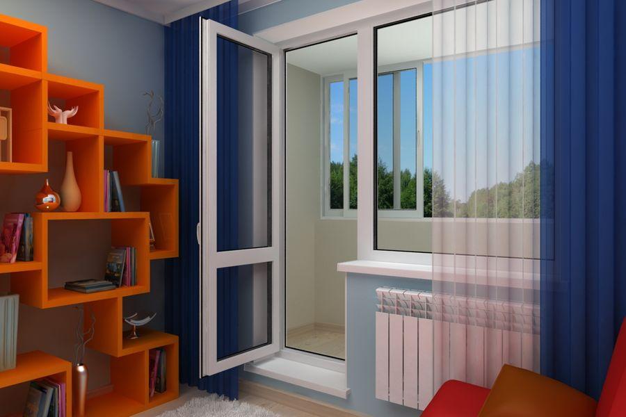 Утепление ПВХ балконных дверей